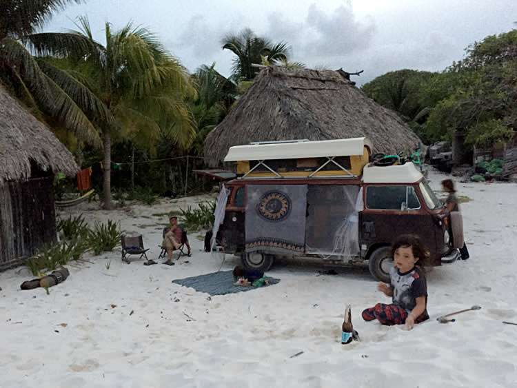 rv camping and vandwelling in tulum coast beach quintana roo mexico