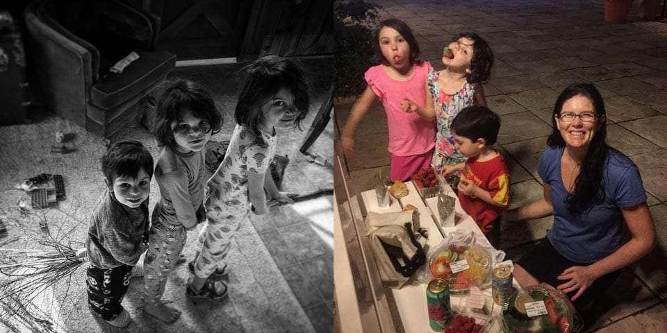 children loving life