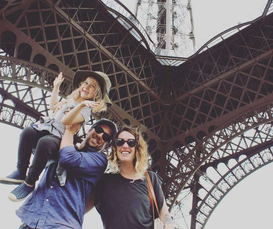 the family at the Eifle Tower