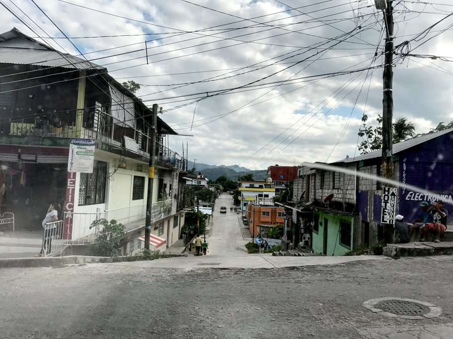 the streets of Palenque, Mexico