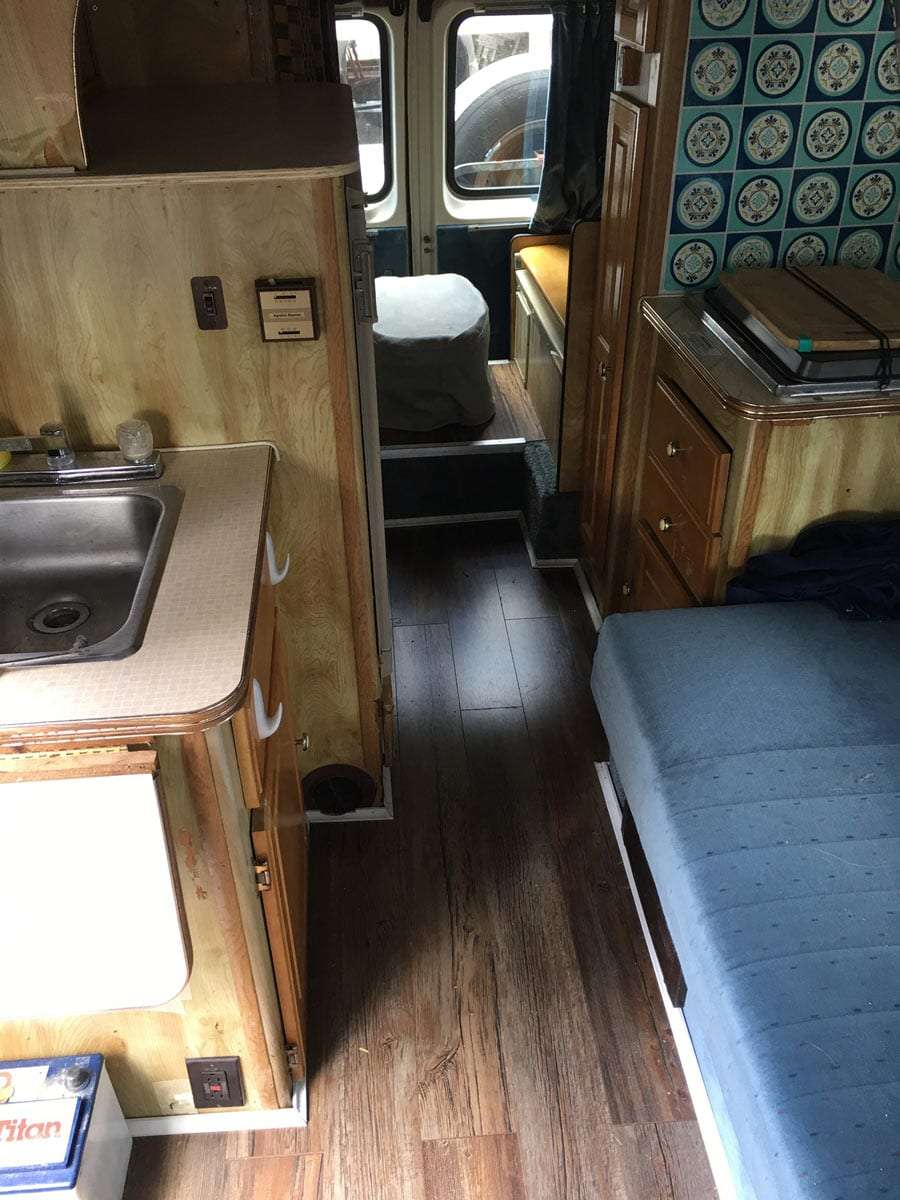 inside of the van