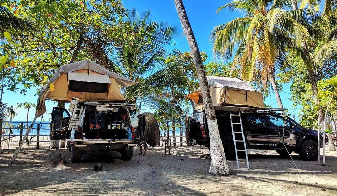 various rooftop tents on overlanding vehicles