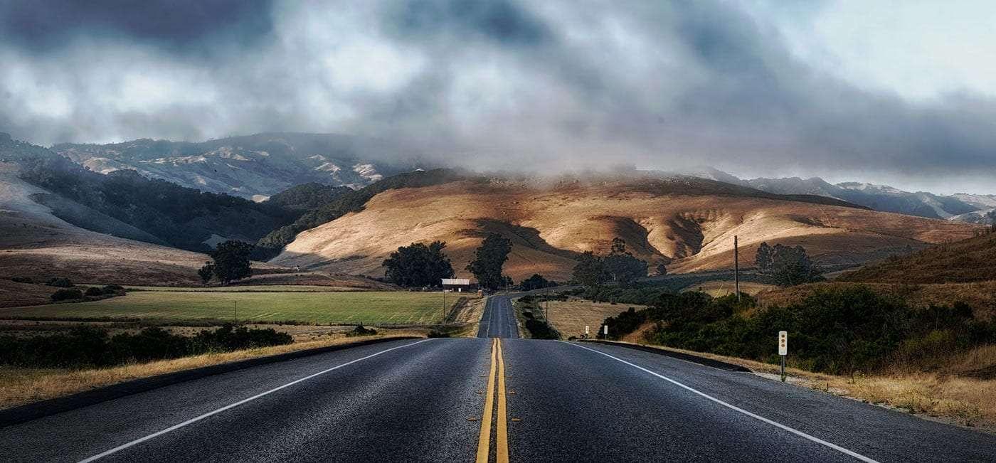 an endless open road