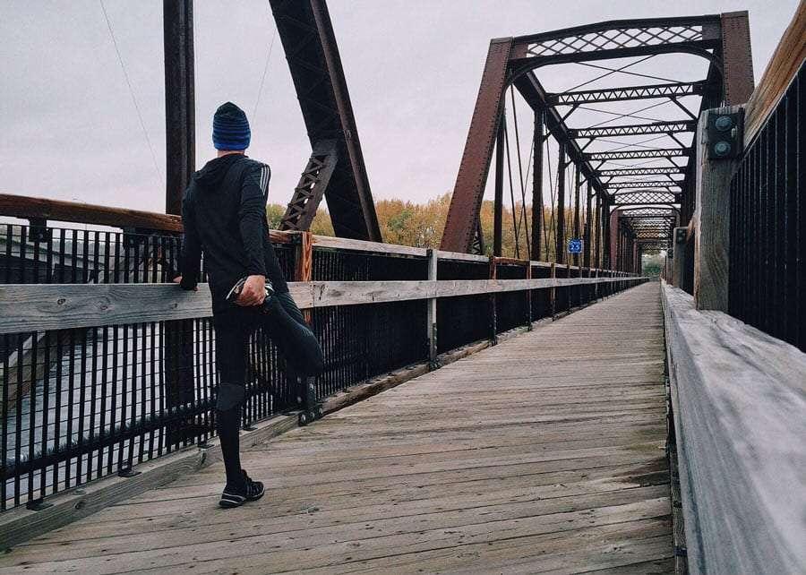 a man about to take a run