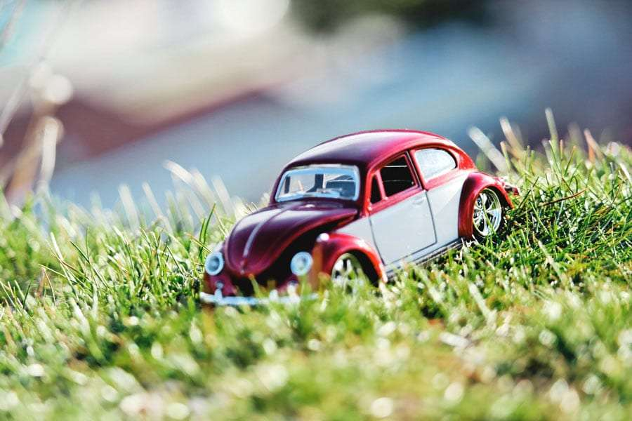 a toy vw beetle