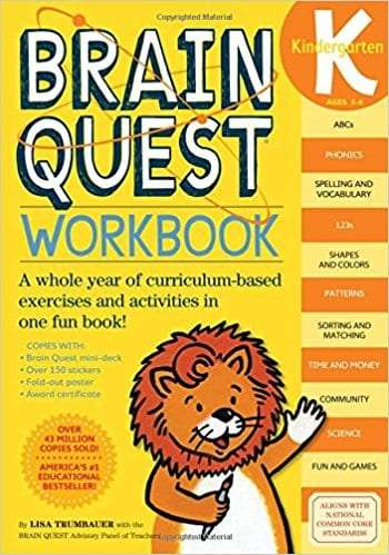brainquest workbook for kindergarten