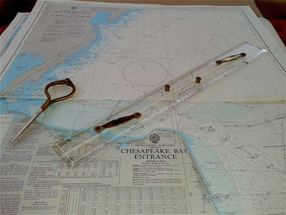 sailing charts of chesapeake bay