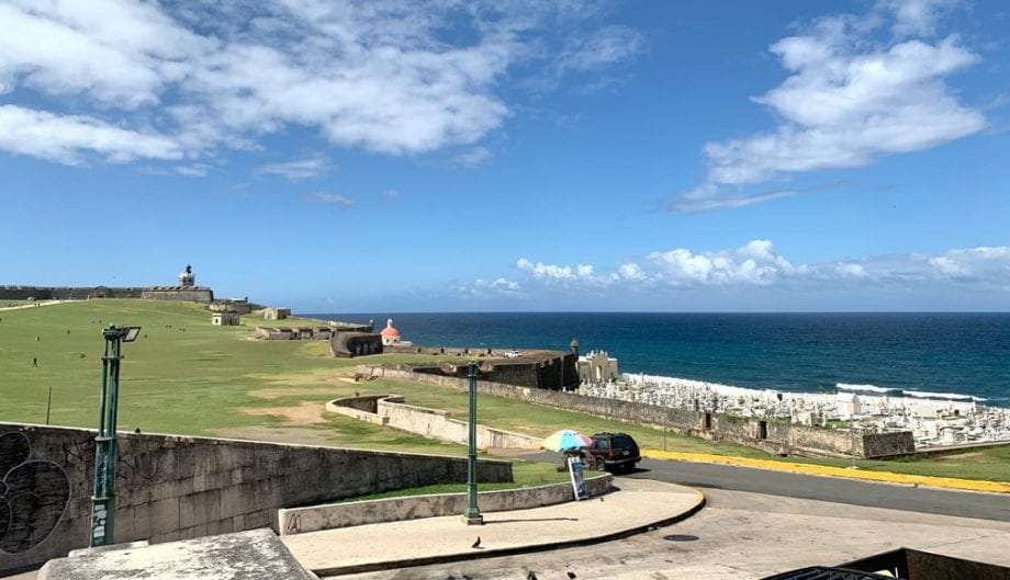 The view of the Atlantic from Castillo San Felipe del Morro San Juan