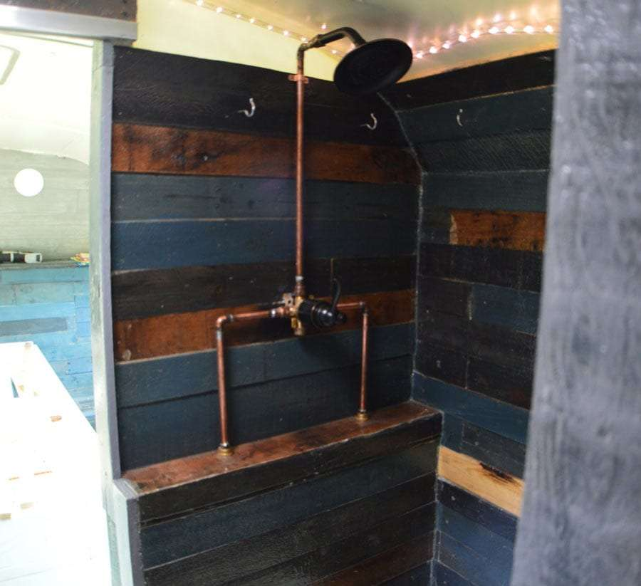 The finished shower.