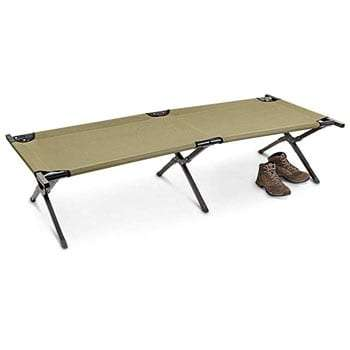 HQ Issue Military Style Camping Cot