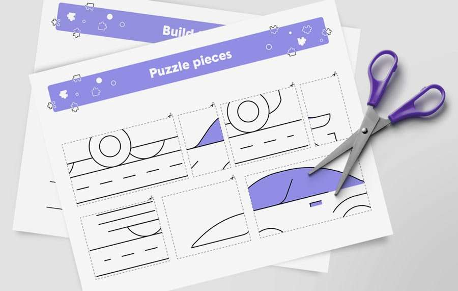 a printable car puzzle