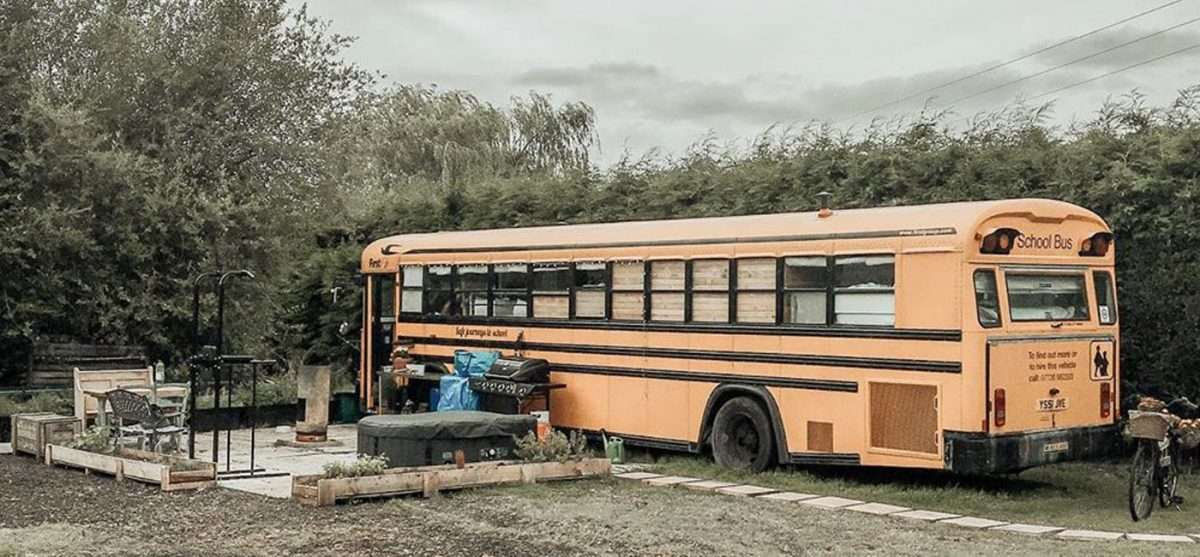 a school bus conversion, aka skoolie