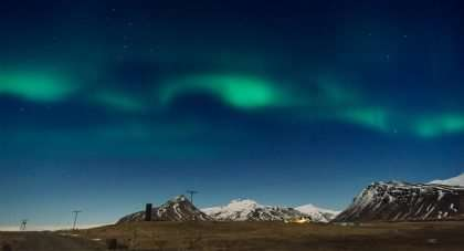 the northern lights above Iceland