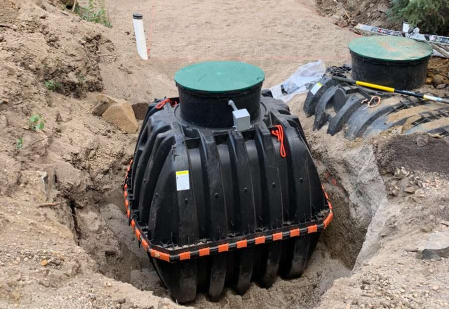 septic installation as described
