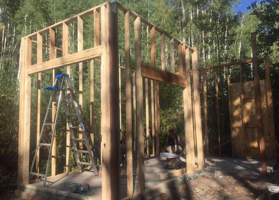 2x4 walls framed up