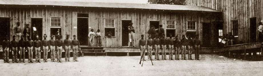 former slaves training for war at camp nelson