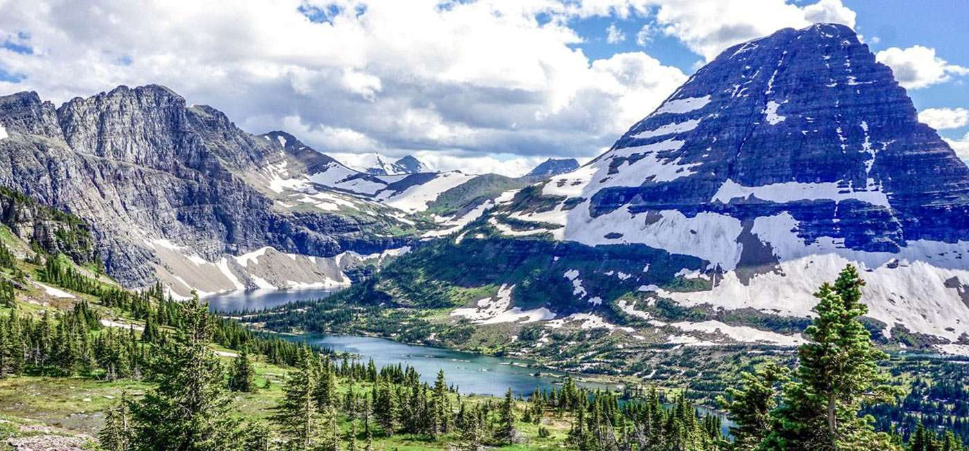 there are simply few places as spectacularly ridden with scenery as these chiseled mountains, glacial prominences and lakes careening through the forest as you'll find in glacier