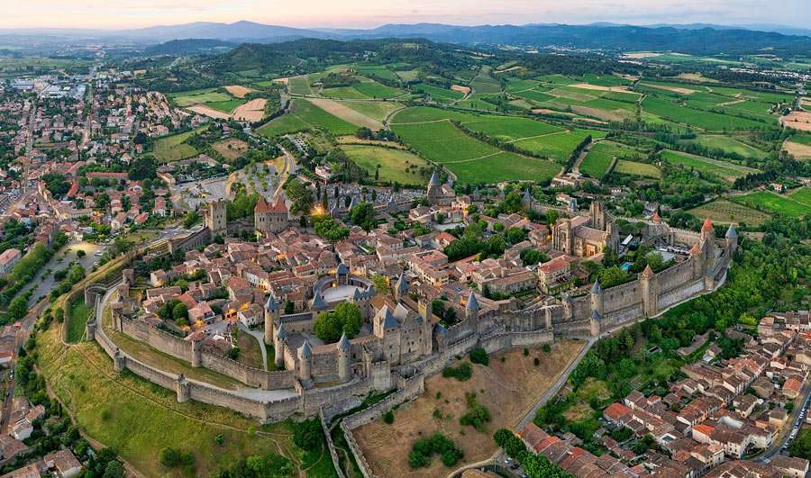 an ancient castle stronghold in france