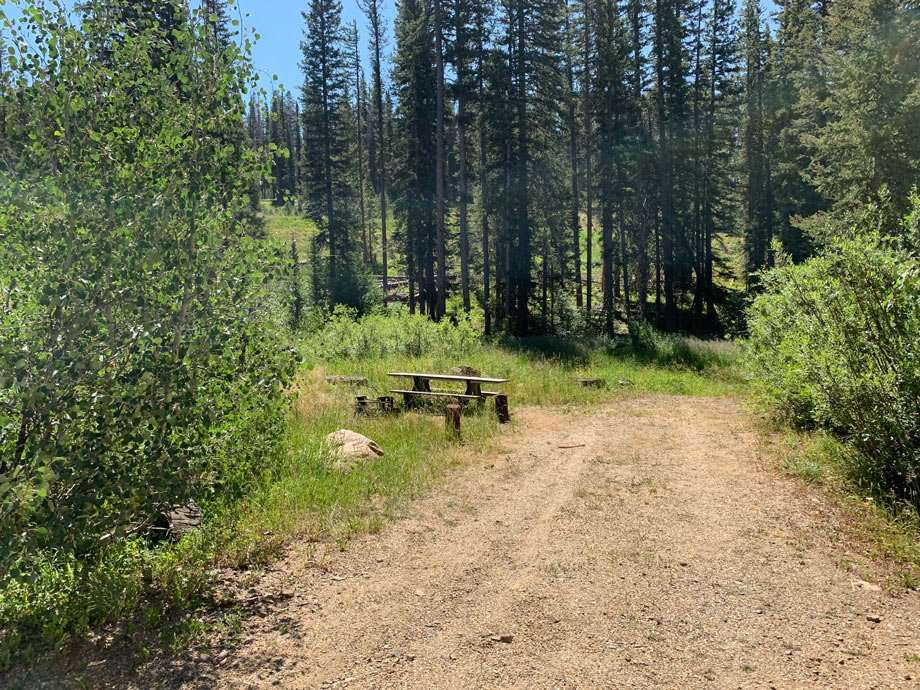 a picnic table in the medicine bow national forest lost creek campground