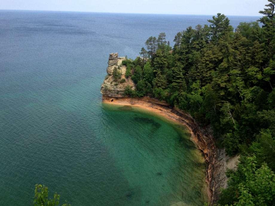 colorful shoreline on Lake Superior