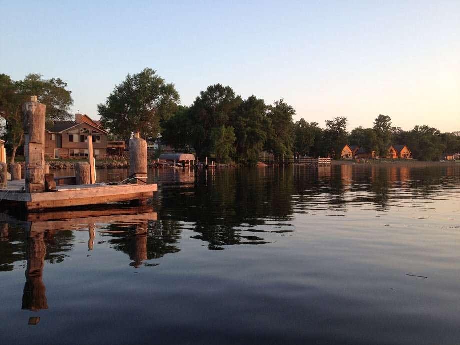 house line Lake Kabetogama.