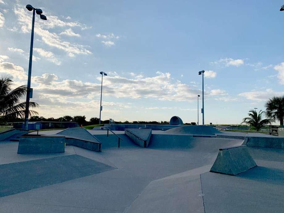 a concrete skatepark