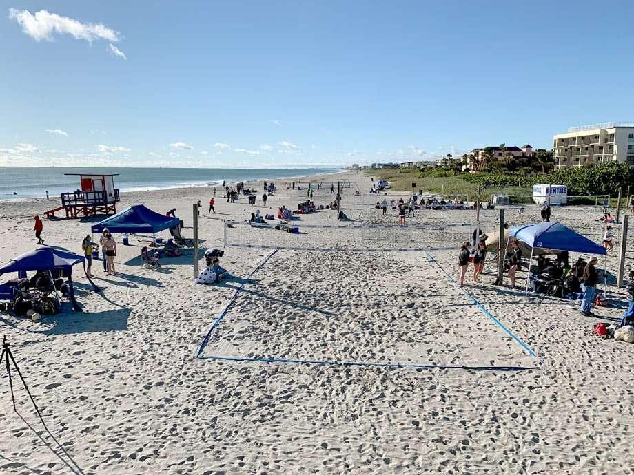 beachgoers enjoy the sand