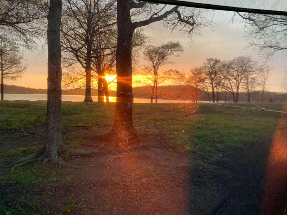 sunset over cowlington point, oklahoma