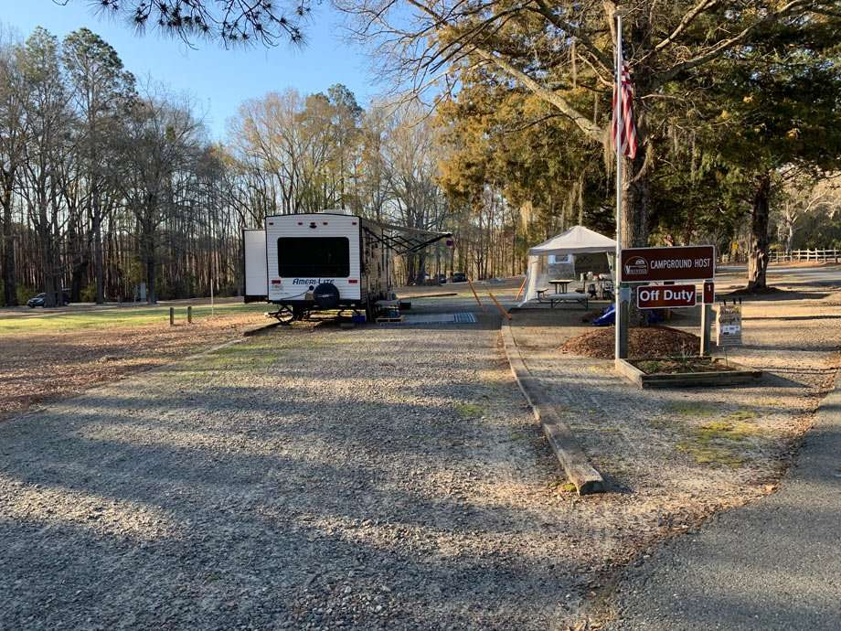 A campground host's spot at George L. Smith State Park in Georgia