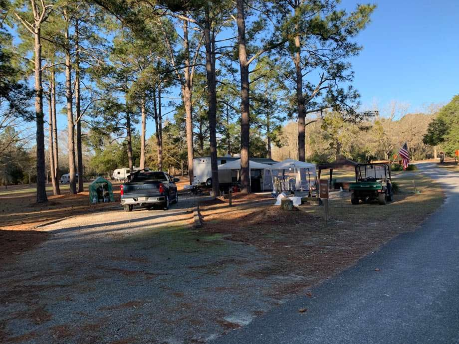 Another campground host spot at George L. Smith State Park in Georgia