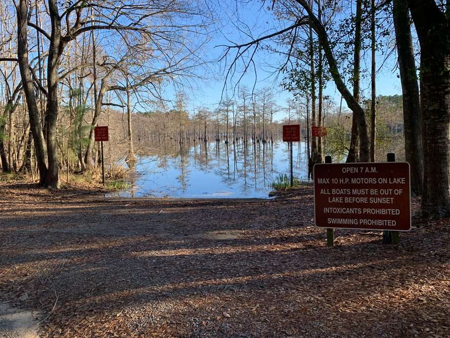 boat access at George L. Smith State Park in Georgia
