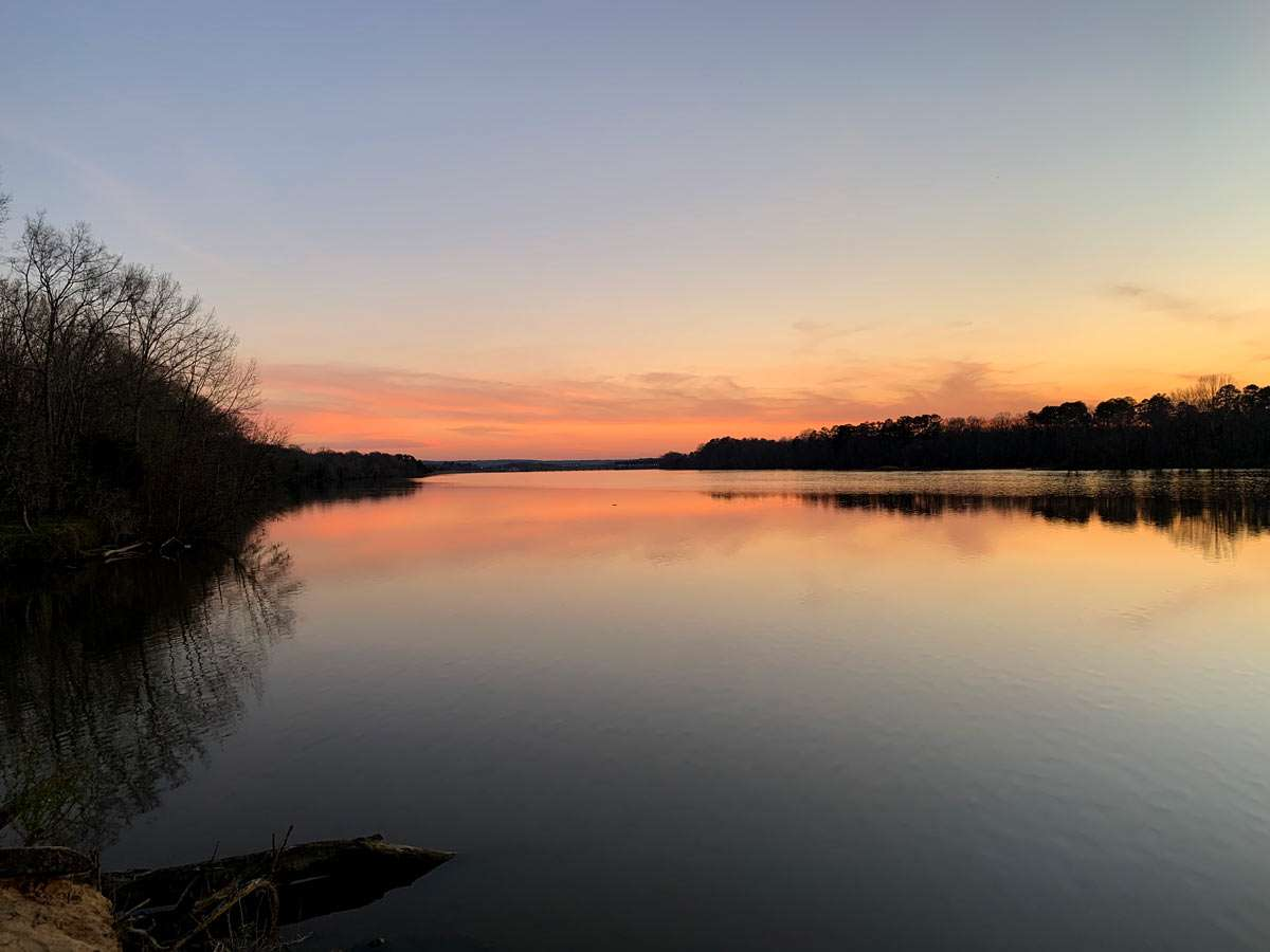 sunset in Tuskeegee National Forest