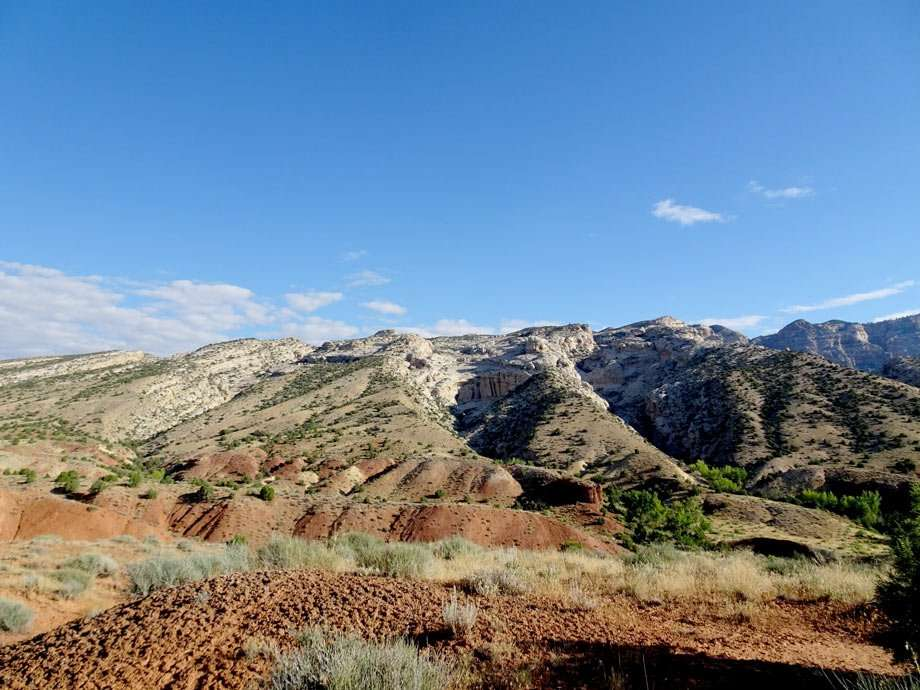 rugged, tumbling mountainscapes in the desert lands of Dinosaur National Monument