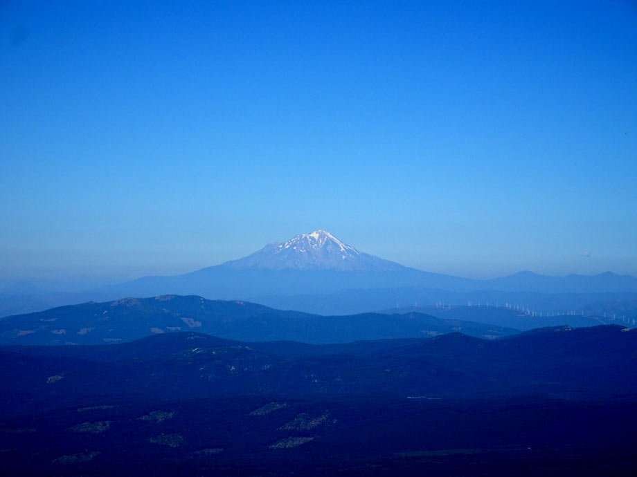 the faded, snow-capped peak of lassen national park