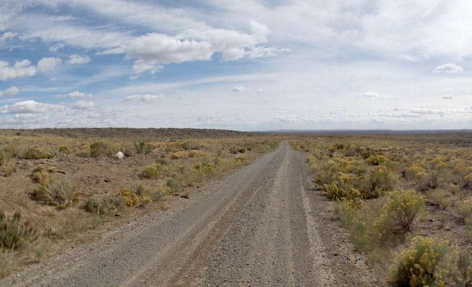 endless long dirt road in Idaho