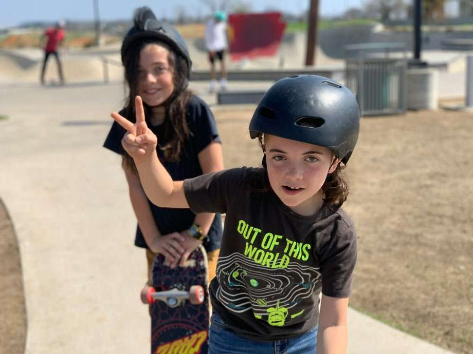 two young skater boys in Fort Smith, Arkansas