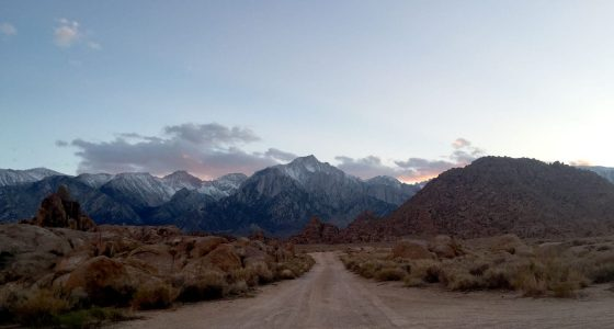 dusk on the eastern sierras