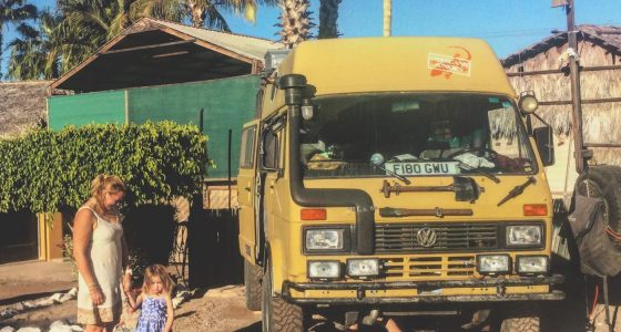 a 1989 Volkswagen LT parked in Rivera del Mar, Loreto, Baja California Sur