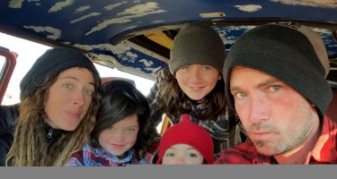 Renee, Winter, Tristan, Wylder and Nathan live in a 1978 Volkswagen Bus