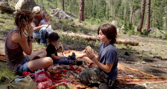 a family having a picnic in Custer State Park, South Dakota