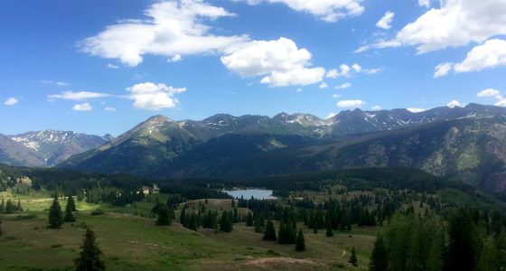 alpine lakes and forests in the San Juan Mountains, Colorado