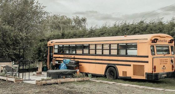 a school bus conversion, aka skoolie