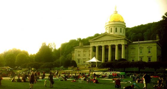 the capitol building of Vermont, Montpelier