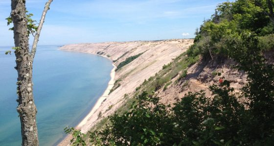 sand dunes at sleeping bear national lakeshore
