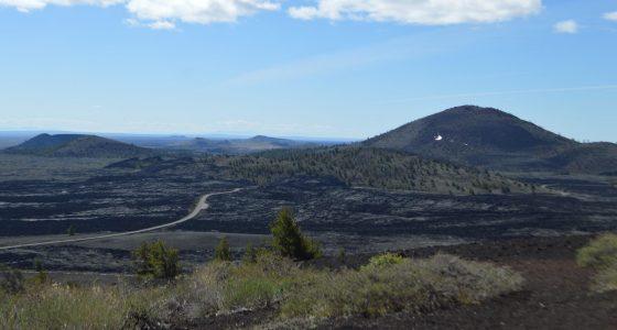 a badlands mountainscape