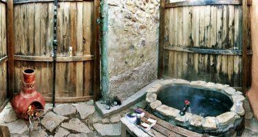 an outdoor hot springs