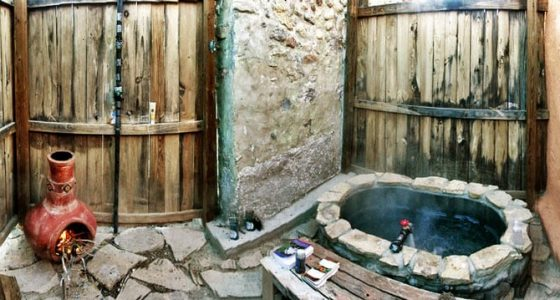 an outdoor hot springs