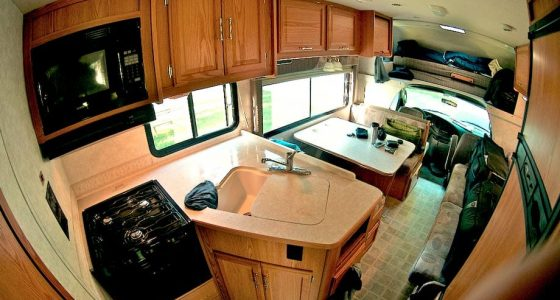 the inside of a rather nice recreational vehicle