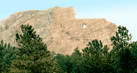 Crazy Horse Monument, one day to be the largest sculpture on earth, will eventually be a likeness of the Lakota leader riding his horse and pointing to the lands where his dead are buried.