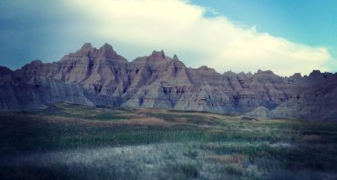 jagged mountains of the badlands in south dakota